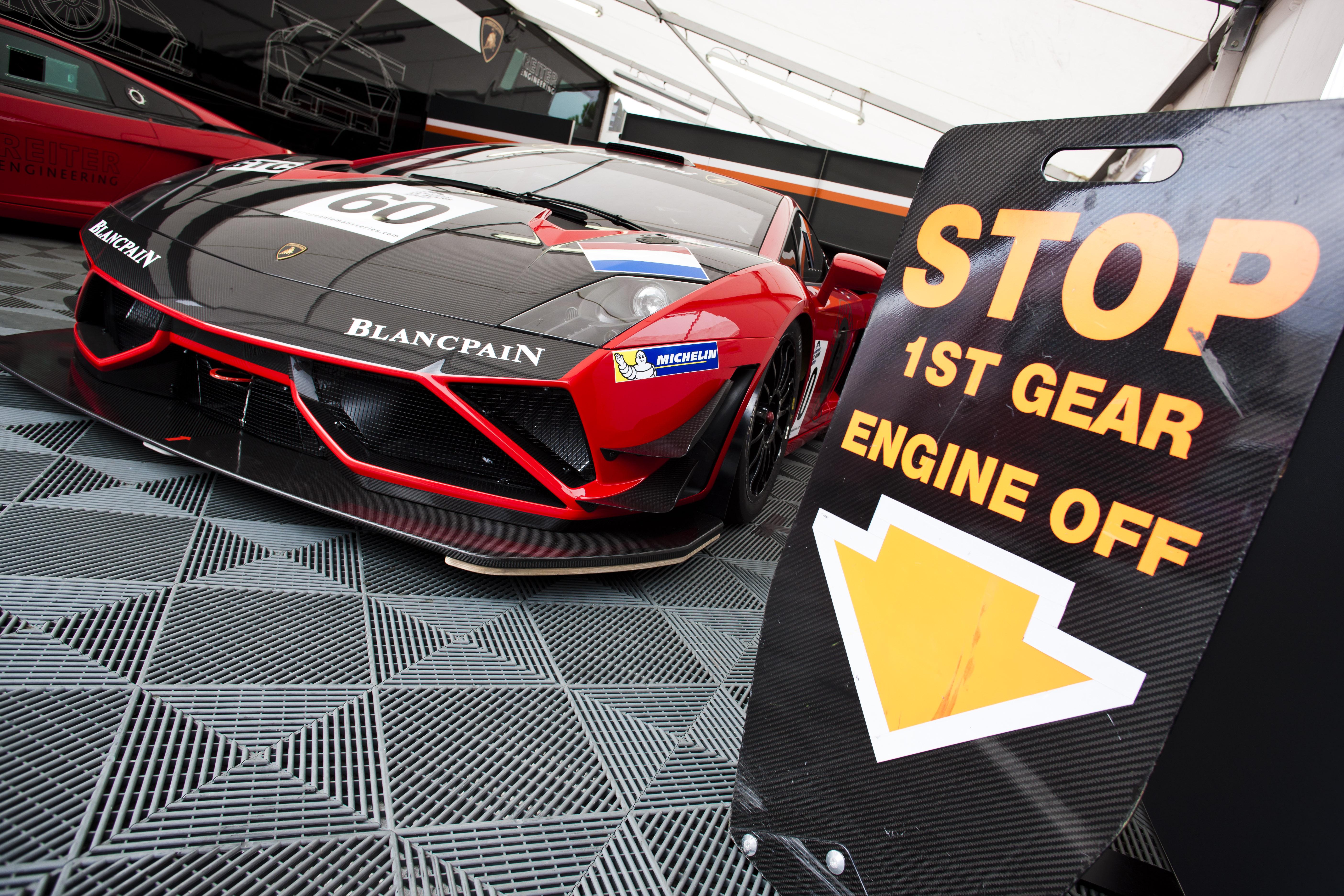 ELMS Races in Lamborghini Gallardo voor Retera